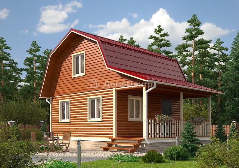 Дом из бруса 8x6 «Петергоф»