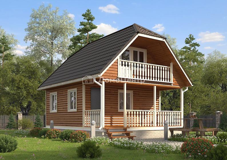 Дом из бруса 8x6 «Звенигород»